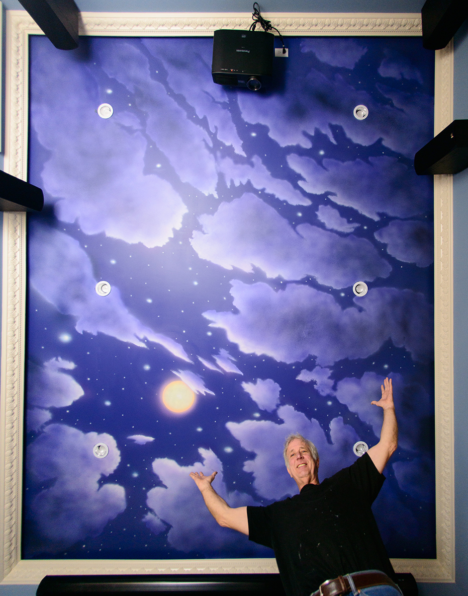 2015 ceiling clouds mural